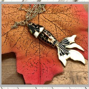 Lucky Koi Moving Fish Necklace